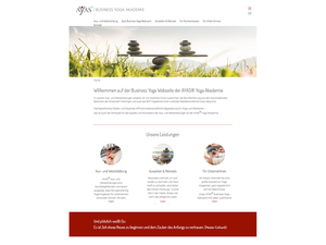 Ayas Business Yoga Akademie Webseite