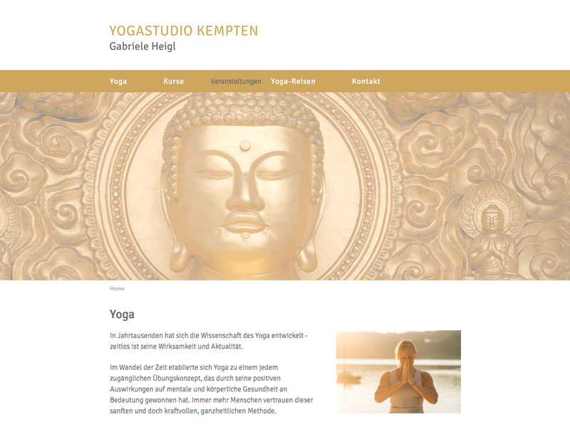 Yogastudio Kempten Homepage